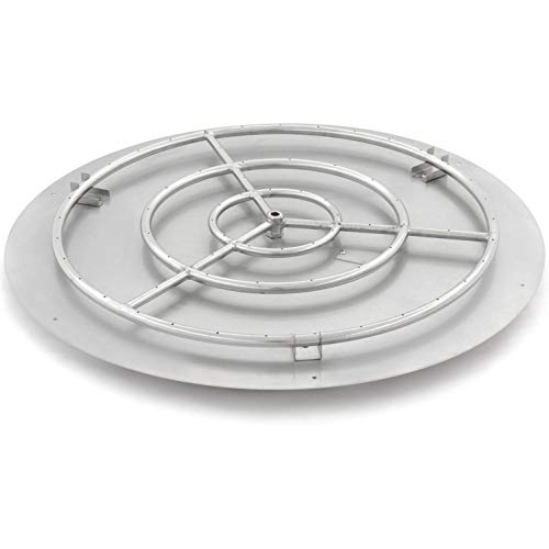 Lakeview Outdoor Designs 36-Inch Round Flat Pan with 30-Inch Natural Gas Ring Burner