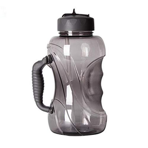 1500 ml versiegeltes auslaufsicheres Material JIGAN Gro/ße Wasserflasche mit Strohhalm//Trinkhalm 1.5L-Sportflasche mit Griff laufend Fitness-Reisen