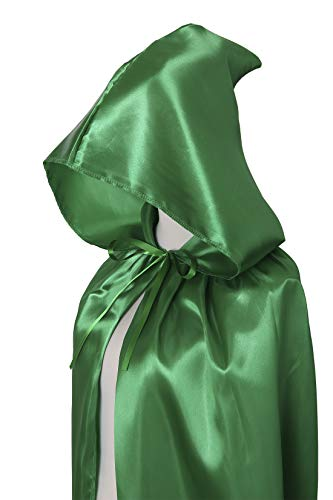Umhang Vert Für Satin Kapuze Halloween Lange Erwachsene Txian Verschiedene Weihnachten Cape Fancy Extra Farben wxTzaTqIO