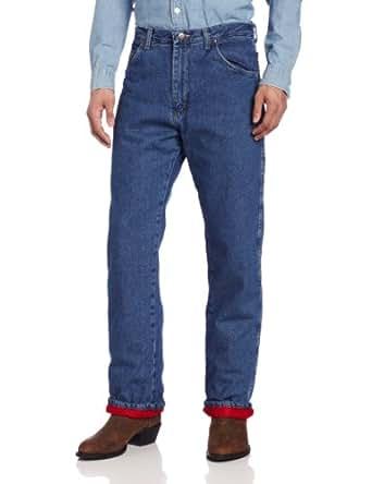 Wrangler Rugged Wear Men's Woodland Thermal Jean ,Stonewashed Denim,44x32