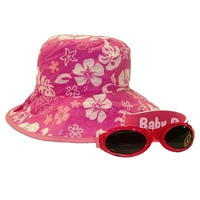 fda92a937 Amazon.com : Baby Banz Reversible Pink Sea turtle Sun Hat and ...