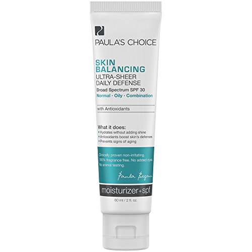 Paula s Choice SKIN BALANCING Ultra-Sheer Daily Defense SPF 30 Oil-Free Moisturizer, 2 Ounce Tube