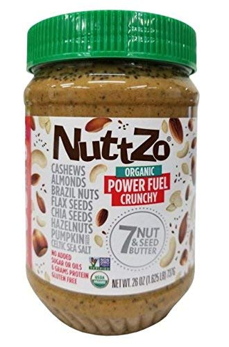 Nuttzo Natural Power Fuel Seven Nut and Seed Butter, Penaut Free, 26 oz ( 2 Pack )