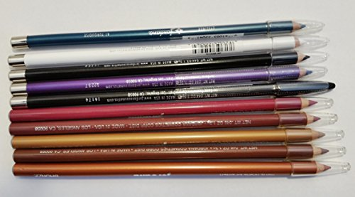 Wholesale Lot of 10 Piece Jordana Lip Liners & Eyeliners Cosmetics Random Shades