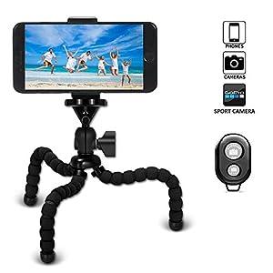 VIUME Mini Treppiede, Portatile Flessibile Octopus Fotocamera Treppiedi con Telecomando Bluetooth per Smartphone iPhone… 5 spesavip