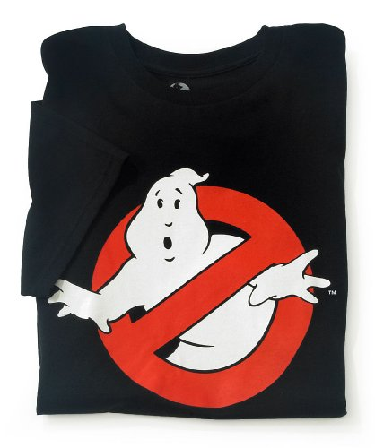 Ghostbusters Ghost Logo T-shirt (Small) Black Glows in the Dark