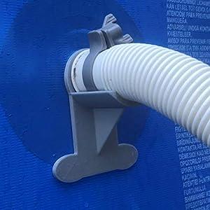 2supporti per tubi da piscina. Supporti grigi per tubi (ad esempio INTEX) da 30mm a 37mm 413POfw%2B0kL. SS300
