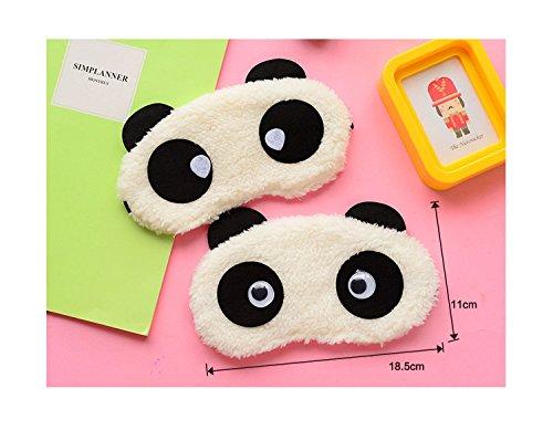 Bestsupplier Lovely Panda Face Sleep Masks Eye Mask Sleeping Blindfold Nap Cover 3pcs