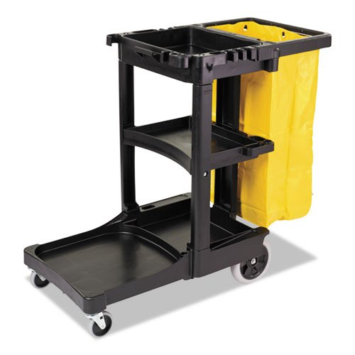 RCP617388BLU - Multi-shelf Cleaning Cart, 3 Shelves, 21 3/4w X 46d X 38 3/8h, - Rubbermaid Multi Shelf