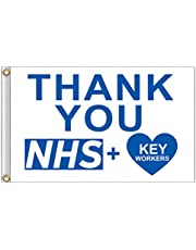 Stylelove 2020 Love Support NHS Health Nurse Doctor Thank You Hero UK Flag Rainbow Pride Flag 150X90cm