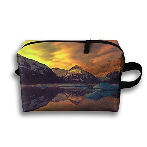 Travel Bag Winter Mountains Nature Sunset Cosmetic Bags Brus