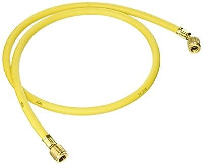 "Yellow Jacket 21048 Plus II Hose Standard 1/4"" Flare Fittings, 48"", Yellow"