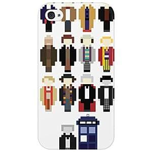 El teléfono de diseño con motivos geométricos de telefónica de Dr Who cámara de vigilancia regeneraciones, plástico, iPhone 4/4S