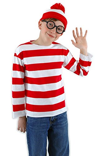 Waldo Where's Girl Costume (Where's Waldo Child Costume Kit,)