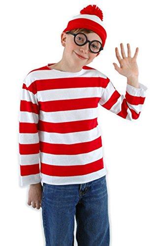 [Where's Waldo Child Costume Kit, Large/X-Large] (Where's Waldo Child Costumes Kit)