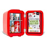 Coca-Cola Vintage Chic 4L Cooler/Warmer Mini Fridge by Cooluli for Cars, Road Trips, Homes, Offices and Dorms