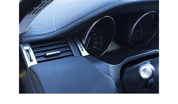 Range Rover Evoque 2011 + interior cubierta emblema - placa de acero inoxidable 2pcs Interior Kit de accesorios - Land Rover Convertible se HSE Premium ...