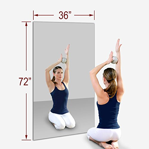 "TroySys 36"" x 72"" MiraSafe Single Gym Mirror Kit"