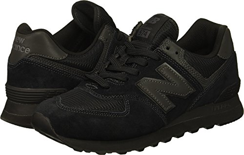 New Balance Men's 574v2 Sneaker, Black/Black/Black, 9 D US