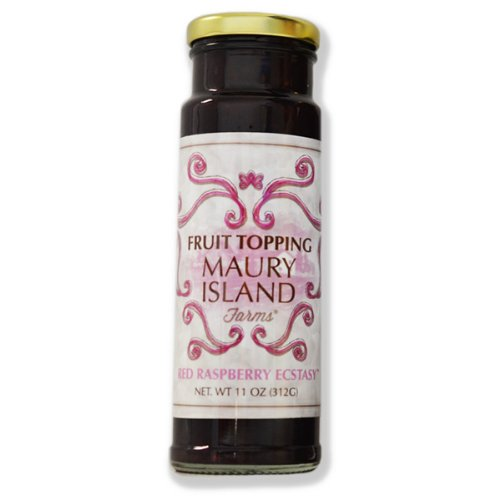Maury Island (Gourmet Red Raspberry Fruit Topping, 11 oz Bottle - Fresh & All Natural - by Maury Island Farms (Pack of 3))