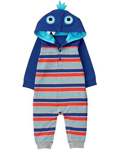 Gymboree Baby Boys Stripe Monster Onepiece, Multi, 3-6 Mo (Clothes Baby Boy Gymboree)