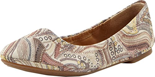 Ballet Lucky Multi Women's Brown Flat Emmie qRCgwRO