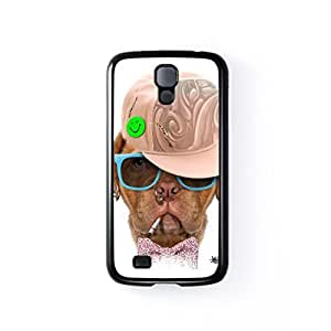 Dog with Cap 03 Black Hard Plastic Case for Samsung? Galaxy S4 by Gangtoyz + FREE Crystal Clear Screen Protector