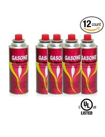 12 Butane Fuel GasOne Canisters for Portable Camping Stoves, Outdoor Stuffs