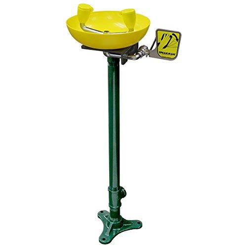 Speakman SE-583 Traditional Series Pedestal-Mounted Emergency Eyewash, Yellow