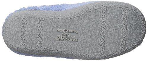 Mule Iceberg with Padded Slip Quilted Resistant Dearfoams Skid Terry Women's ONS Rubber Outsole Slipper Clog 6xTRqBIw
