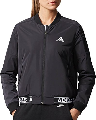 Price comparison product image Adidas Women's Athletics ID Woven Bomber Jacket (Black,  XS)