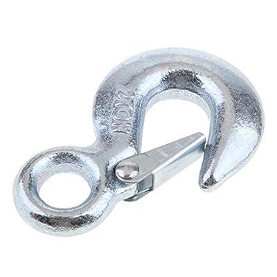 Homyl Heavy Duty Eye Slip Spring Lifting Hook with Safety Latch for ATV/UTV Winch Rope 5600 LB