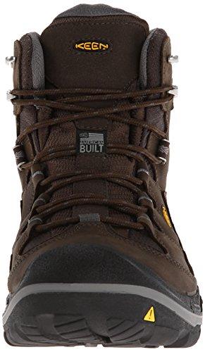 KEEN Men's Durand Mid WP Hiking Boot,Cascade Brown/Gargoyle,7.5 M US