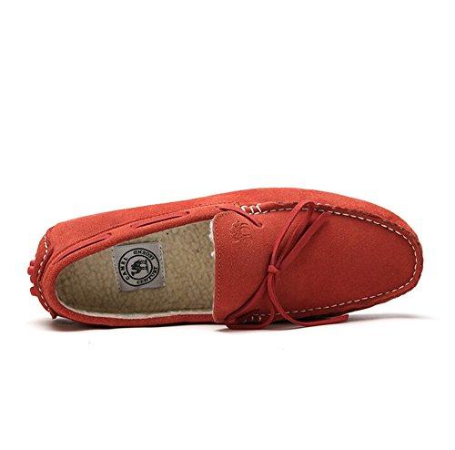 Cammello Uomo Guida Mocassino Scarpa Casa Colore Rosso Taglia 40 M Eu