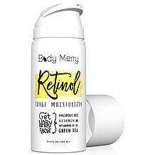 Body Merry Retinol Surge Moisturizer- Retinol Cream 2. 5% - 3. 4 fl oz w Best Natural Ingredients Hyaluronic Acid Serum + Green Tea + Vitamins for Anti-Aging & Anti-Wrinkle & Even Skin Tone & Acne Care