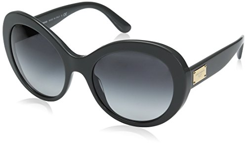 Dolce-Gabbana-Womens-Acetate-Woman-Round-Sunglasses-Grey-57-mm