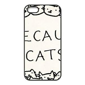 SANYISAN Cute Cats Love Cat Black iPhone 5s case