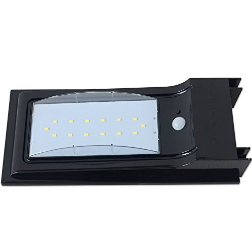 LED Waterproof Wireless Solar Powered PIR Motion Sensor Wall Light SL-7L5S by H&B Luxuries