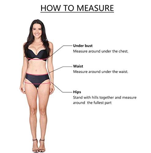 Transer Frauen Mädchen Bikinis Set Halter PushUp Gepolsterter Bh ...