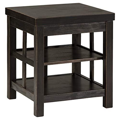 Ashley Furniture Signature Design - Gavelston Square End Table Rubbed, ()