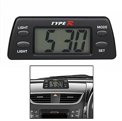 TypeR Car Dashboard Clock With Light: Amazon in: Car & Motorbike