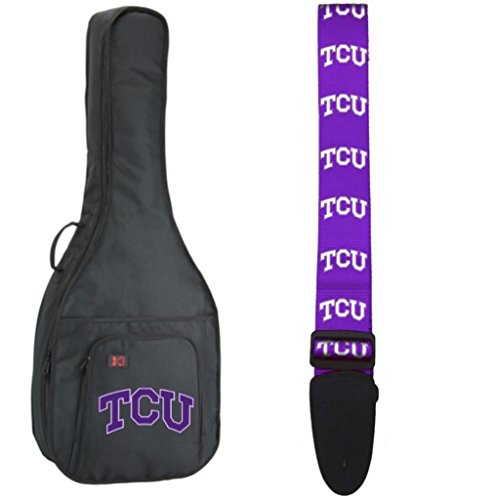NCAA Collegiate Acoustic Guitar Bag/Strap - Texas Christian University TCU Horned Frogs