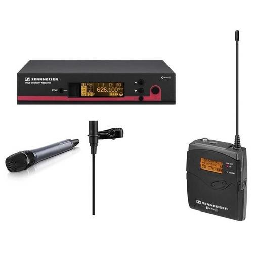 (Sennheiser EW 112 G3-A-US Wireless System, Includes Rack-Mount Receiver, Handheld Transmitter, Bodypack Transmitter, Clip-On Lavalier Mic - Frequency G: 566-608 MHz)