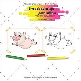 Livre De Coloriage Pour Enfants Animaux Mignons Cochon Poisson