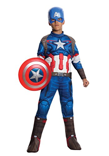 Marvel Captain America Boys Muscle Costume Small
