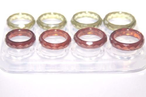 Make epoxy resin rings with our clear silicone mold for personal jewelry - Make at home rings - Tutorial included Sizes 6 - 7 - 8 - 9 two per each size