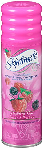 Skintimate Signature Scents Moisturizing Shave Gel for Women, Raspberry Rain with Vitamin E and Olive Butter, 7 Ounce