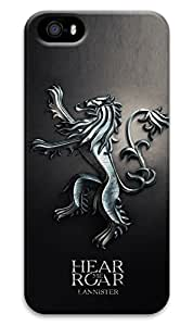 FUNKthing Game of thrones hear me roar lannister PC Hard new iphone 5 case for men