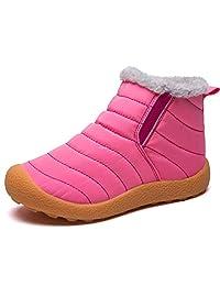 LINGTOM Kids Winter Snow Boots