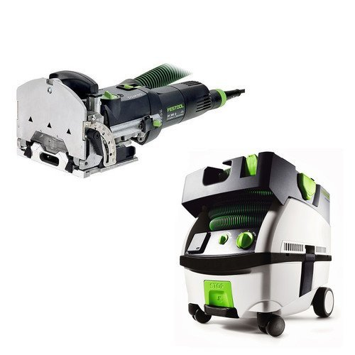 Festool PN574332 Domino Mortise and Tenon Joiner with CT MINI HEPA 2.6 Gallon Mobile Dust Extractor by Festool